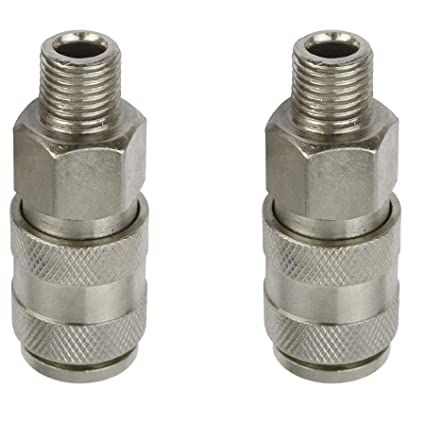 Air Line Hose Connector Fitting Female Quick Release 3//8 inch BSP Female 2pk