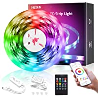 MESUN LED Strip Lights, 16.4ft Smart Wi-Fi LED Light Strip with APP and Remote Control, Upgraded Music Sync Color…