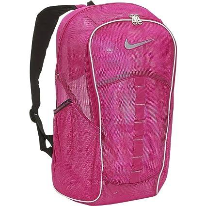 d4a96187e8a7 Amazon.com  Nike Brasilia 4 Lg Mesh Backpack - Vivid Pink Vivid Pink   Sports   Outdoors