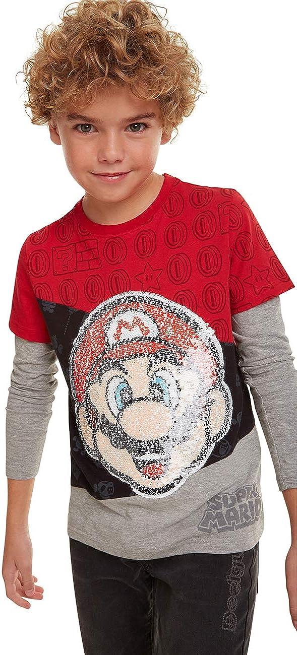 Desigual T-Shirt Mario Maglietta a Maniche Lunghe Bambino