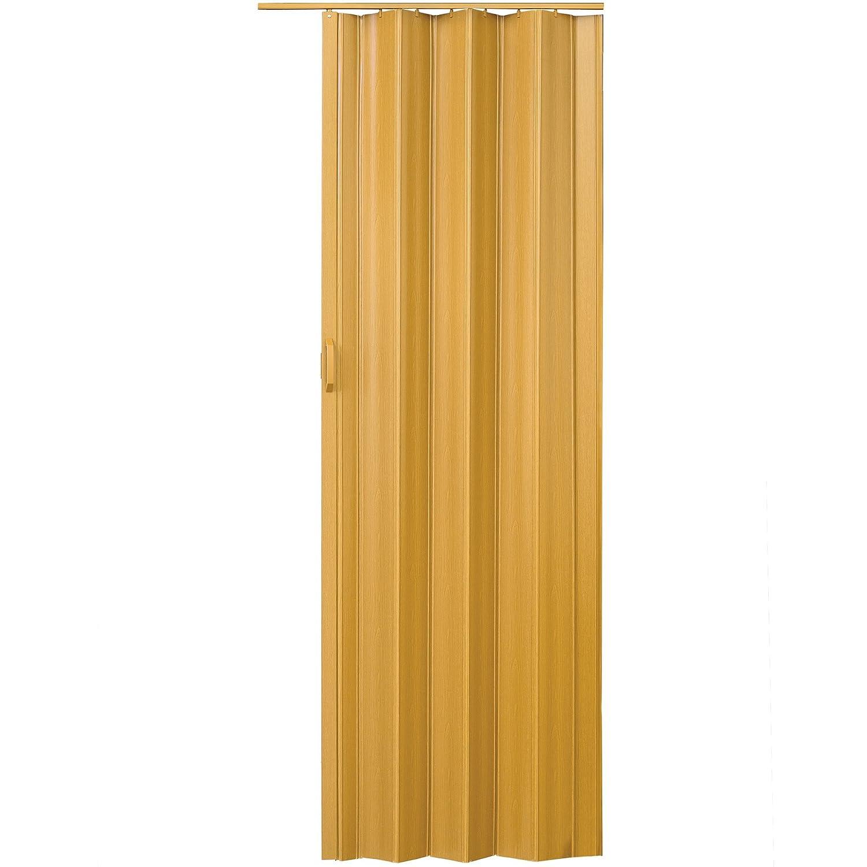 TecTake Porta a soffietto in PVC dimensioni 80 x 203 cm parete a soffietto - disponibile in diversi colori - (Bianco | no. 400957)