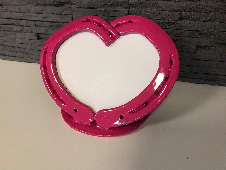 Hufeisen - Herz Bilderrahmen Pink (Telemagenta): Amazon.de: Handmade