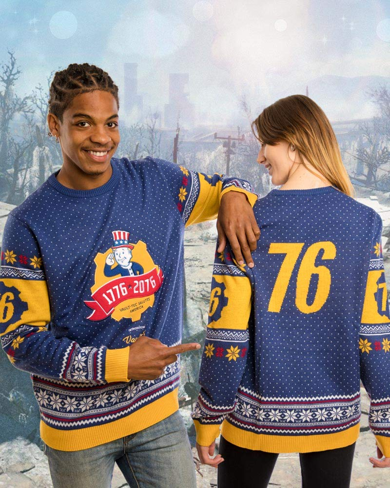 Vault Tec Christmas Sweater.Fallout 76 Ugly Christmas Sweater Cash 2 Burn
