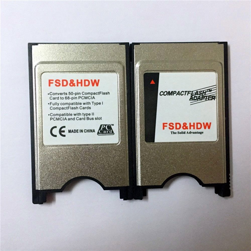 Bodawei Laptop PCMCIA Digigear Compact Flash CF to PCMCIA PC Memory Card Adapter Reader PCMCIA Adapter for Cf Card ATA Flash//UDMA