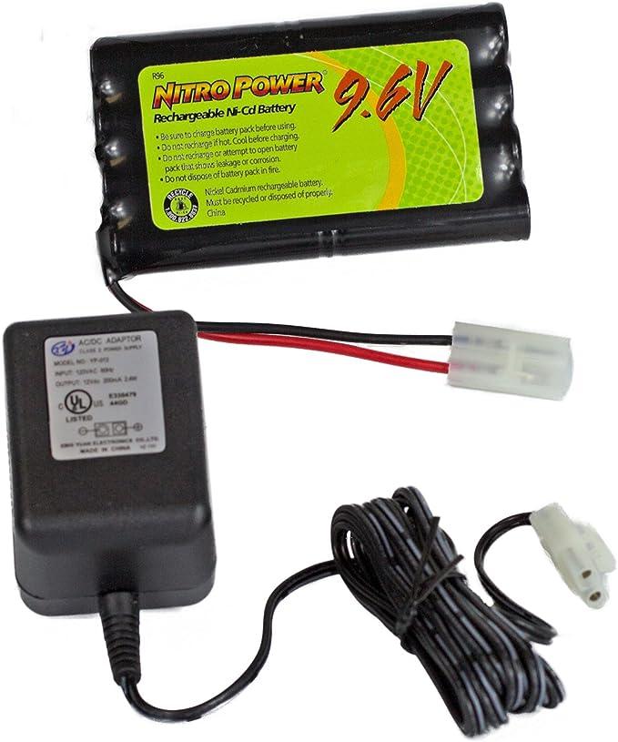 Amazon Com Batería Y Cargador Nitropower Nicd De 9 6 Voltios Y 600 Mah Electronics
