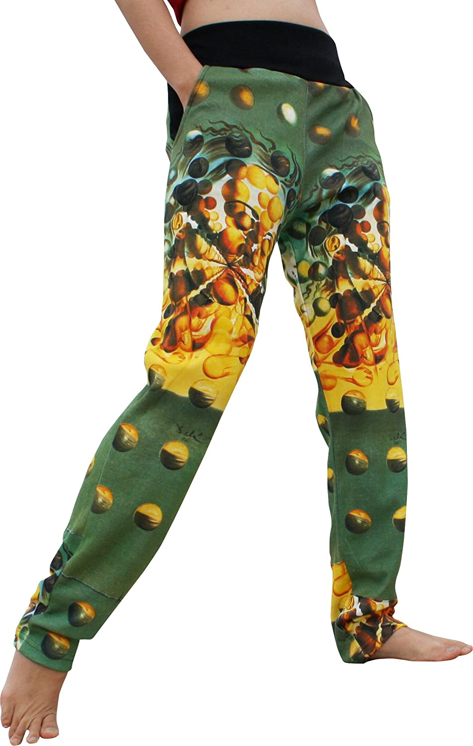 RaanPahMuang Spandex Printed Pants Salvadore Dali Galatea of The Spheres