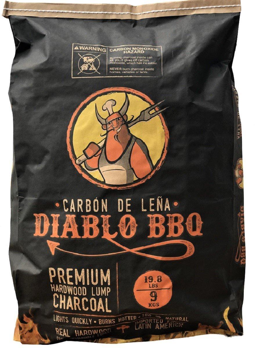 DIABLO BBQ PREMIUM HARDWOOD LUMP CHARCOAL 9KGS/19.8 LBS