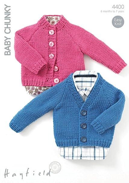 Hayfield Baby Chunky Knitting Pattern 4400: Amazon.co.uk: Kitchen & Home