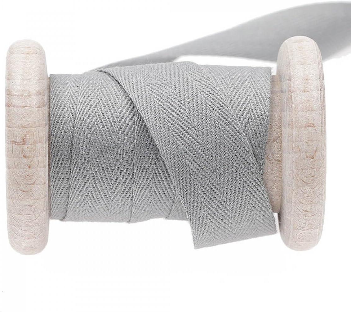 Cinta algodón al metro – gris Pastel Griffin, algodón, gris, 20 mm ...