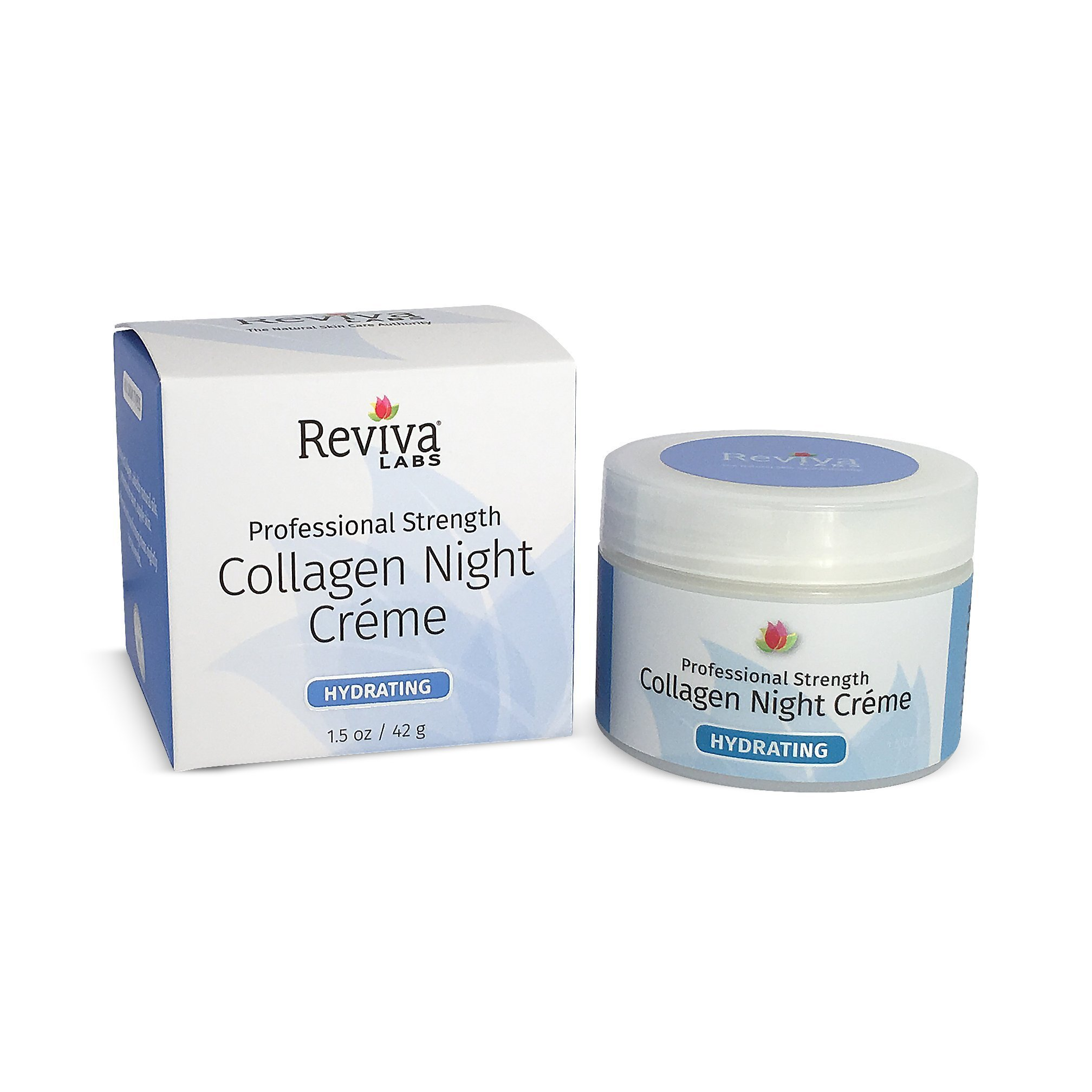 Reviva Labs Collagen Night Cream, 1.5 Ounce