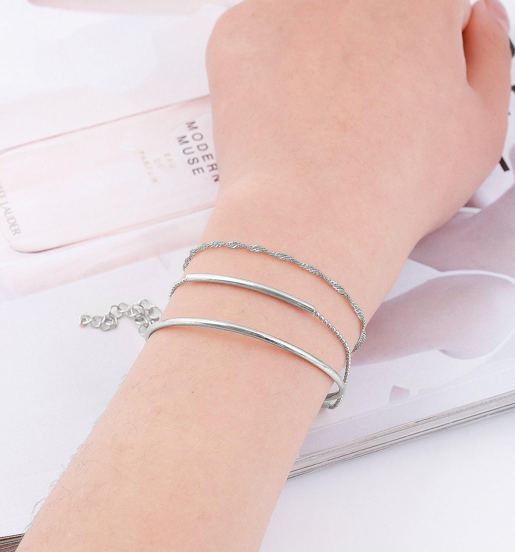 XOCARTIGE Layered Bracelet Set Assorted Beaded Bracelet Multiple Stackable Wrap Bangle Jewelry Adjustable