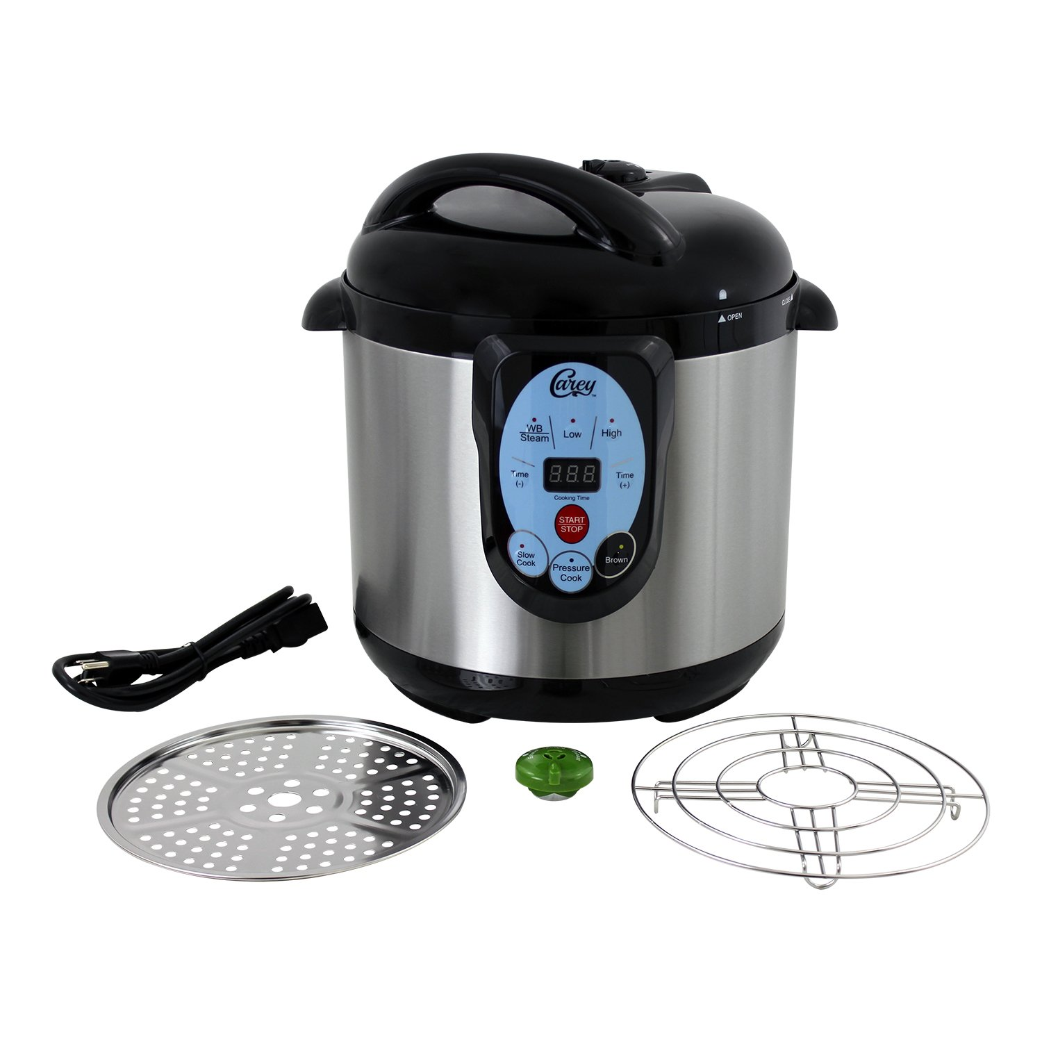 Carey DPC-9SS, Smart Pressure Canner & Cooker, Stainless Steel, 9.5 Quart by Nesco