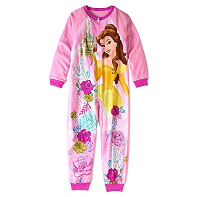 Disney Beauty and The Beast Princess Belle Little and Big Girls Sleeper  Pajamas (Pink 3a0d23b84