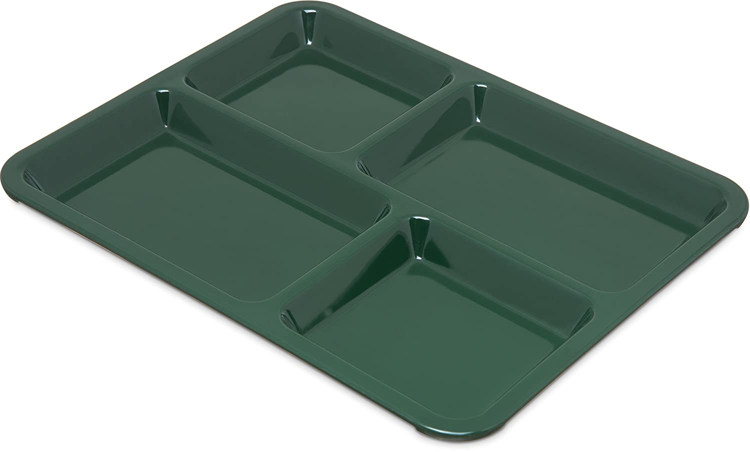 Carlisle KL44408 Right Hand 4-Compartment Cafeteria / Fast Food Tray, 8.5