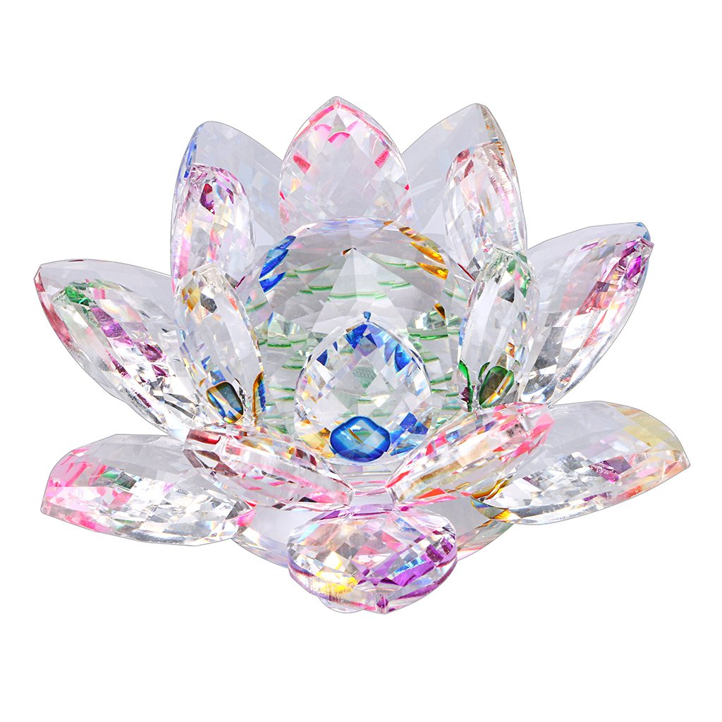 Chic Ownmy Sparkle Crystal Lotus Flower Hue Reflection Feng Shui