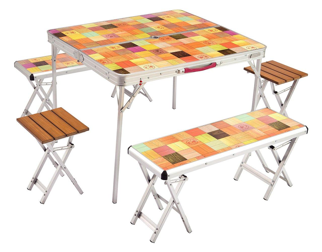 コールマン テーブル ナチュラルモザイクファミリーリビングセットプラス 2000026757 B01ABDWZJY