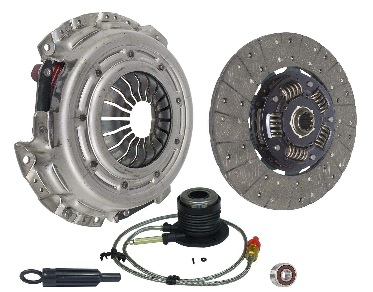Clutch With Slave Kit Works With Chevy Astro Express Silverado Gmc Sierra WT SL LS LT SLE SLT HT Base Custom Z71 2001-2007 4.3L 262Cu. In. V6 GAS OHV Naturally Aspirated