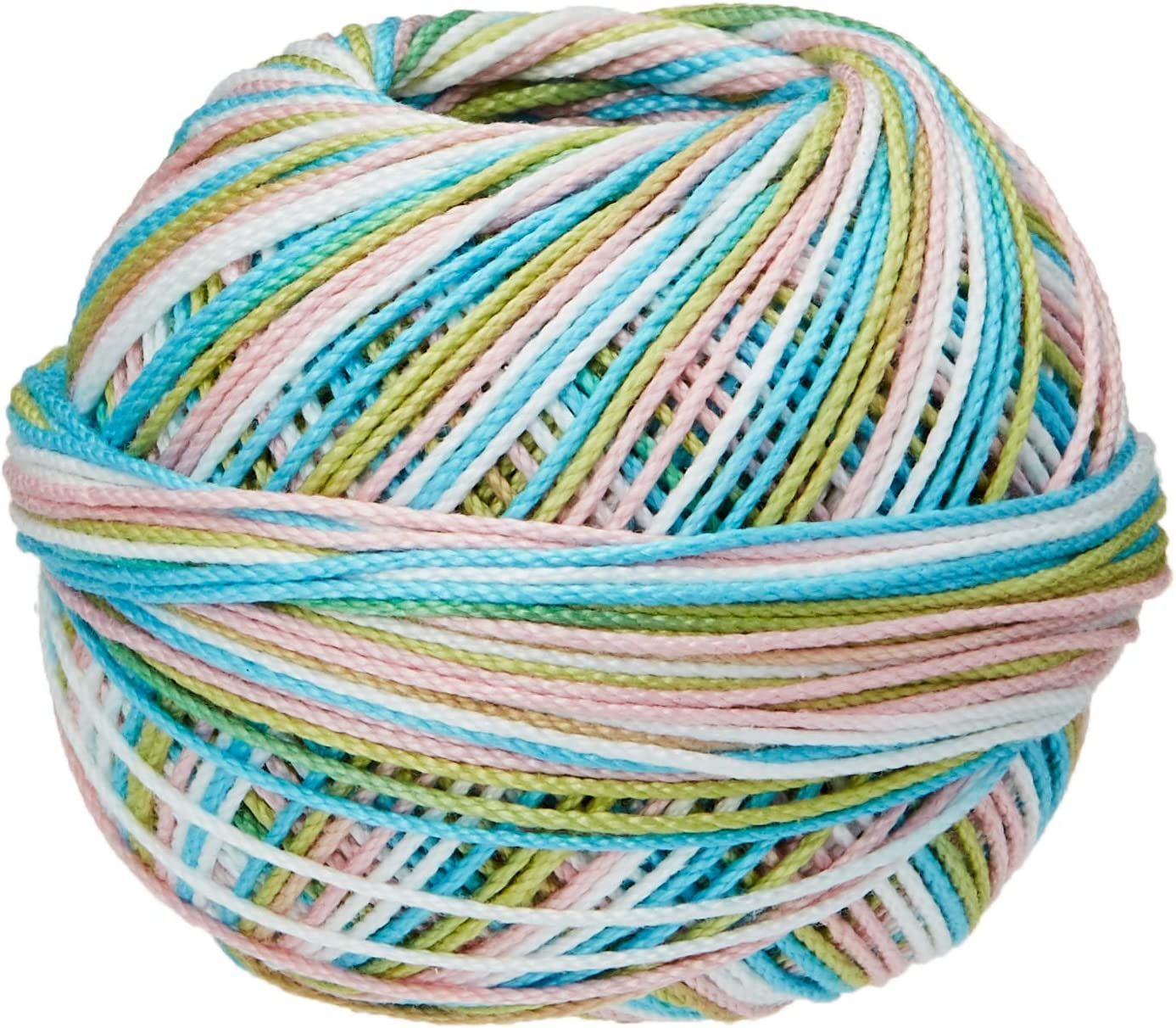 Handy Hands HH03-153 Embroidery Lizbeth Cordonnet Cotton Size 3-Rainbow Taffy