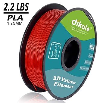 Amazon.com: Filamento para impresora 3D Dikale PLA – 2.2 lbs ...