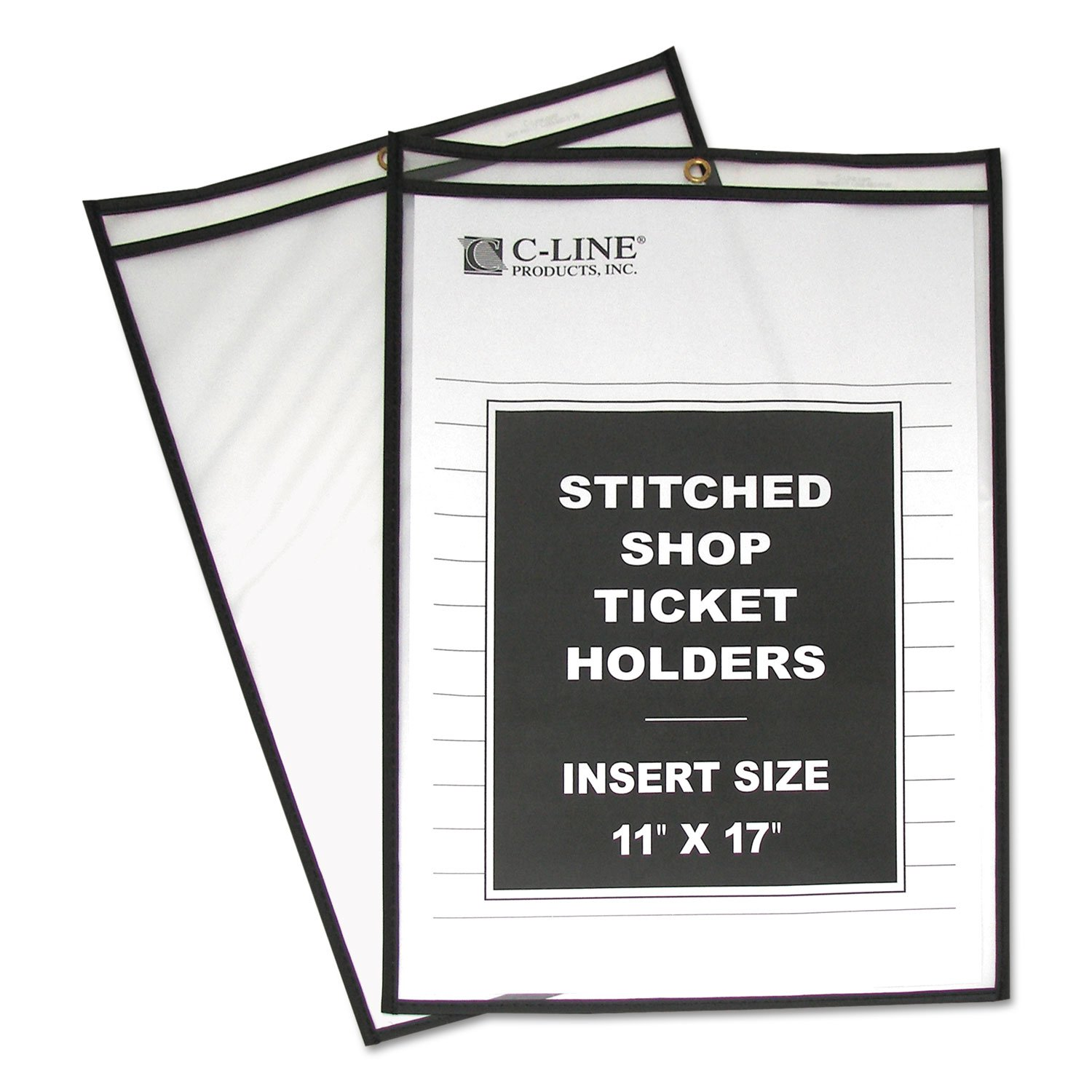 Shop Ticket Holders, Stitched, Both Sides Clear, 75, 11 X 17, 25/bx 75 C-Line