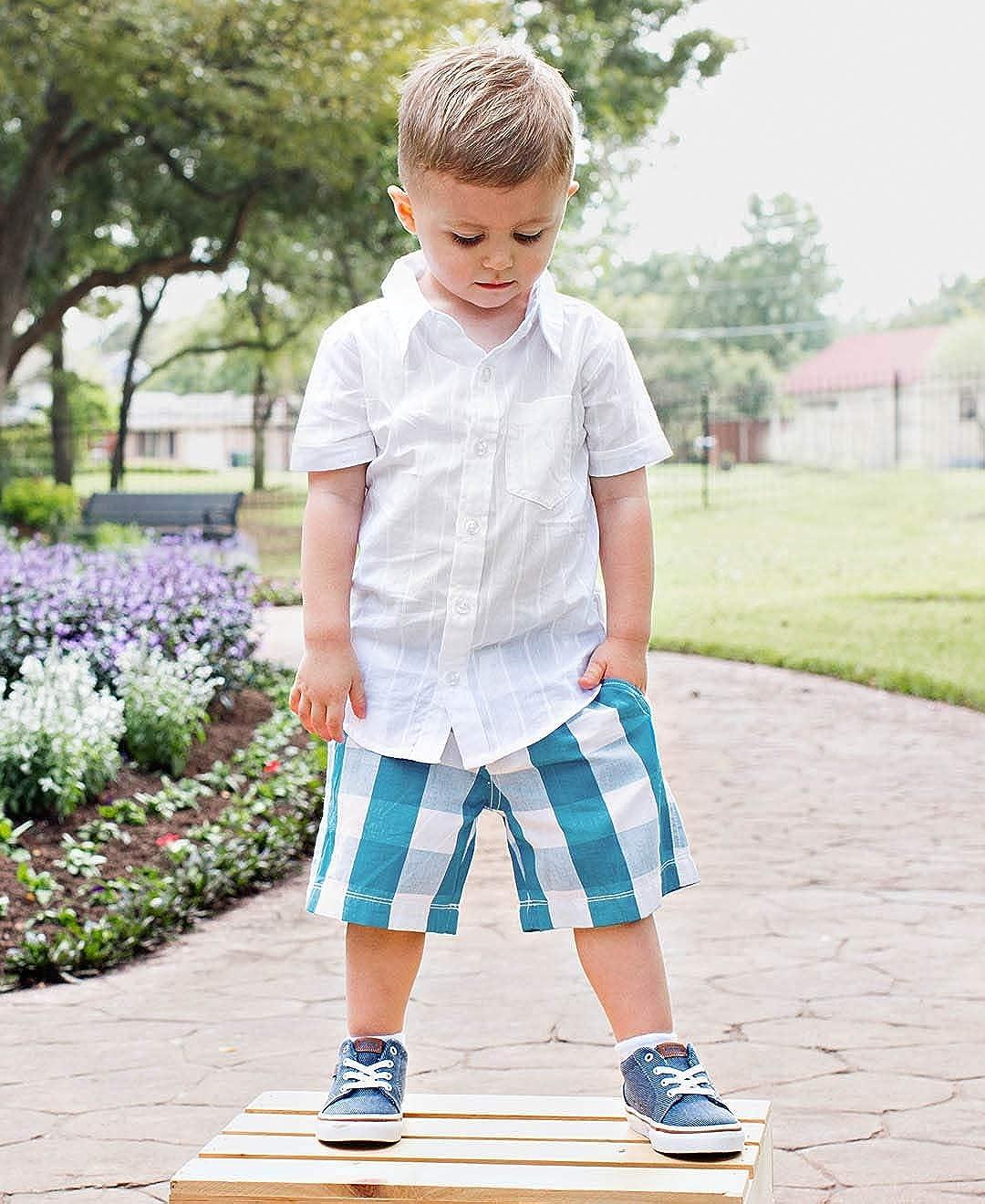 RuggedButts Baby//Toddler Boys Adjustable Waist Plaid Shorts BTWYYXX-PLAD-SC-BABY