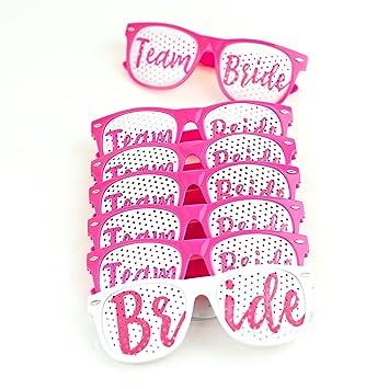 1843db810c74 Amazon.com  Happium - Bachelorette Party Wedding Sunglasses - 7 Pack ...