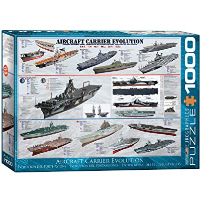 EuroGraphics Aircraft Carrier Evolution Puzzle (1000-Piece): Toys & Games