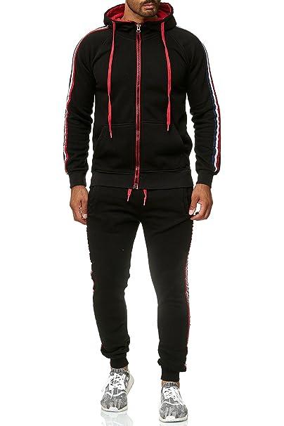 Reslad Herren Jogginganzug Trainingsanzug Sportanzug Jogging-Hose +  Sweat-Jacke RS-5076  Amazon.de  Bekleidung 81ac2cb5e2