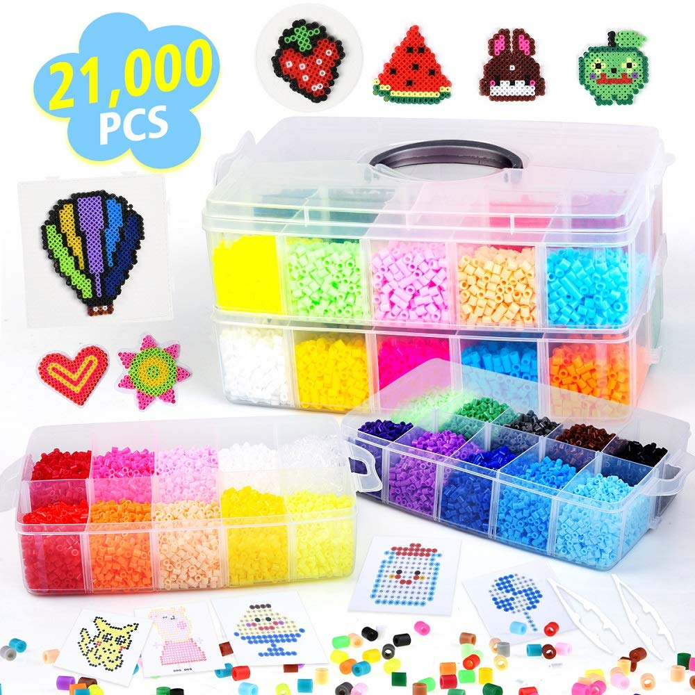 21000 Unidades Canutillos Beads 5mm (22 Colores) Xsr