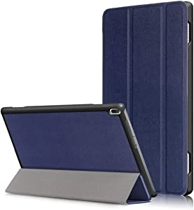 Smart Cover for Lenovo Tab 4 10 Tablet Case(Not Tab4 10 Plus) Folio Smart Cove for Lenovo Tab 4 10.1 inch (TB-X304F,TB-X304N) Slim Folding Stand with Auto Sleep Wake Function,Deepblue