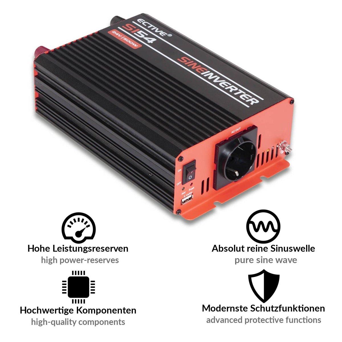 3000W ECTIVE 300W 12V auf 230V SI-Serie Reiner Sinus Wechselrichter in 7 Varianten 300W