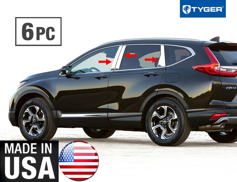 Honda Crv 2018 Release Date Usa >> Made In Usa Tyger Works With 2017 2018 Honda Cr V Chrome Stainless Steel Pillar Post 6pc Set