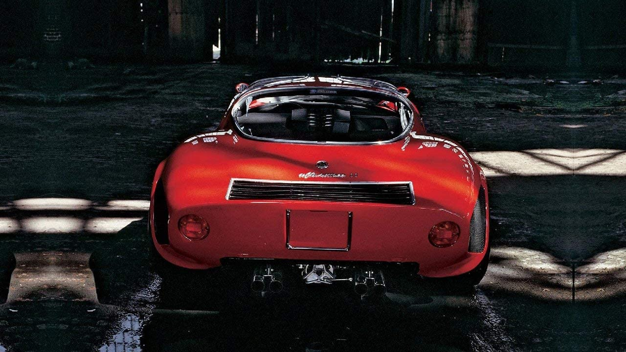 Lilarama USA 1968-Alfa-Romeo-Tipo-33-Stradale-V2- - Super Car Classic Car Poster Print - Cool Wall Decor Art Print Poster