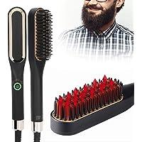 Skägguträtare för män, anti-skållande uträtningskam för skägg - uppvärmt hårrätare för män - PTC-uppvärmning med…