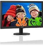 """Philips 243V5QHSBA/69 23.6"""" V-LINE MVA WLED 16:9 VGA/DVI/HDMI Monitor"""
