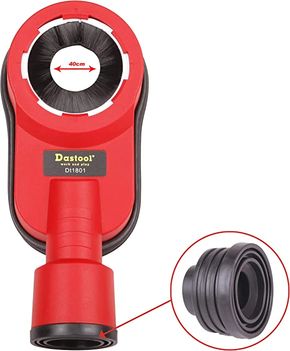 """Dastool Drilling Dust Collection Attachment,Universal Dust Shroud for Drilling 1-3/8"""" Dt1801"""