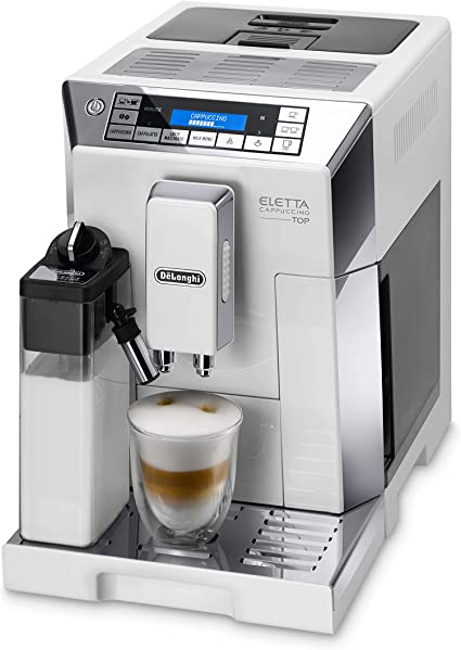 DeLonghi ECAM 45.766.W Cafetera Máquina espresso, Independiente, Molinillo integrado, 1450 W, 1,9 L, Acero inoxidable, Blanco: Amazon.es: Hogar