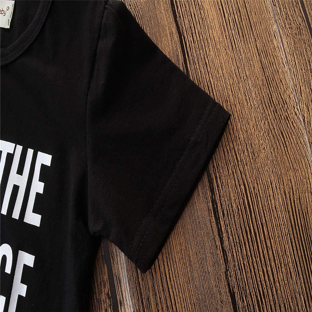 Subfamily Ropa Bebe Ni/ños Verano Conjunto Bebe Ni/ño Ropa Bebe Recien Nacido Ni/ños Manga Corta Cartas Estampad T-Shirt Tops y Pantalones Cortos Conjunto de Ropa de Caballero 12 Mes-6 A/ños