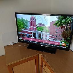 Antena de TV Interior, Oval Negro Antena de TV Digital para Interiores de Alcance de 180KM con Amplificador Inteligente de Señal, Adecuada para Canales de TV Gratis 1080P 4K, Cable Coaxial de