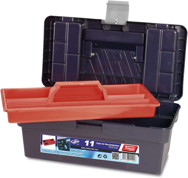 Tayg Caja herramientas plástico n. 11, azul, 356 x 192 x 150 mm ...