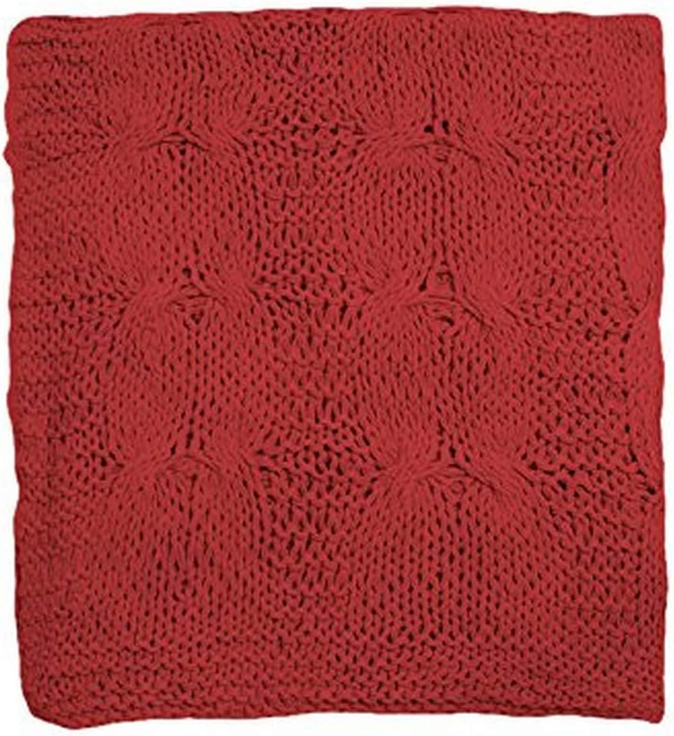 Be-You-Tiful Michaela Cable Knitted Throw, Red
