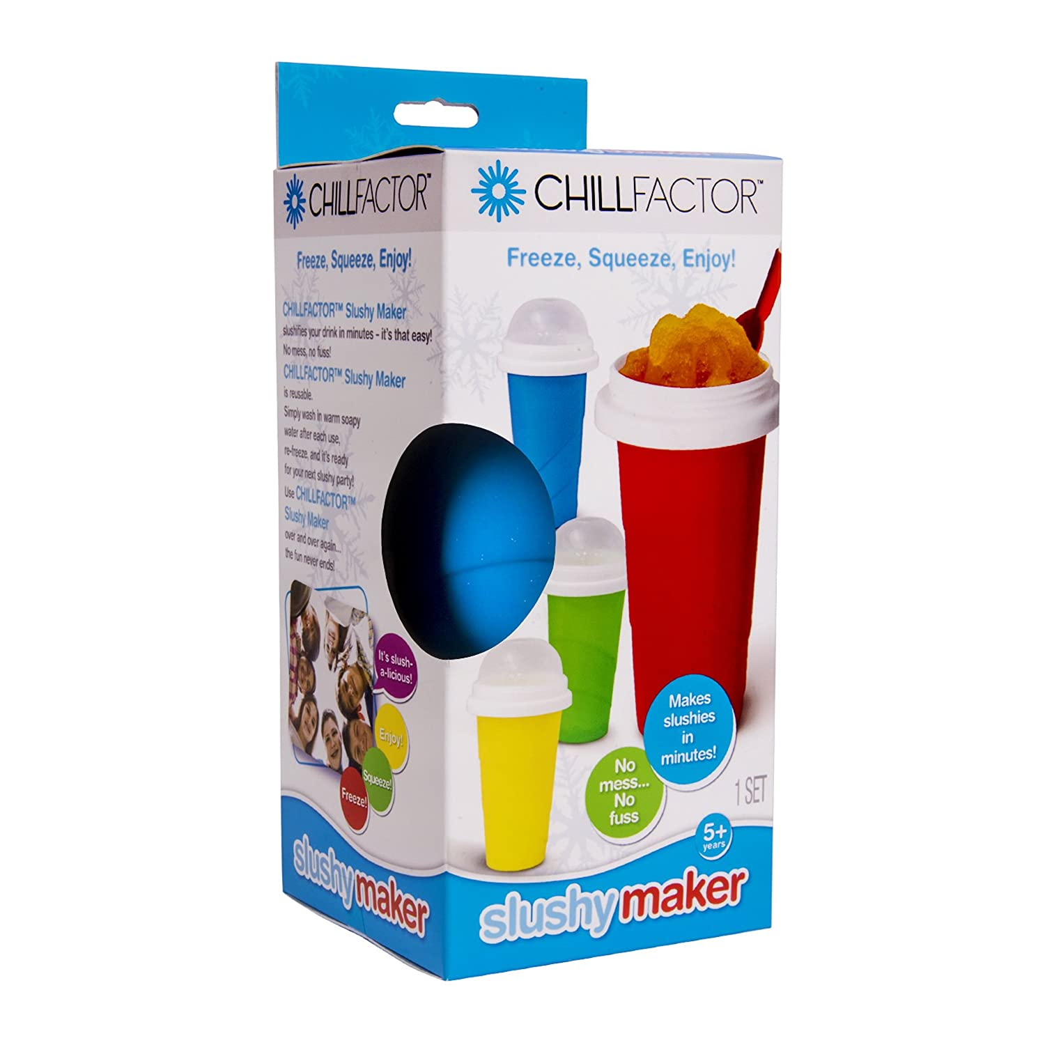 One Size Chill Factor CF800368Color Blast Slushy Maker Magenta