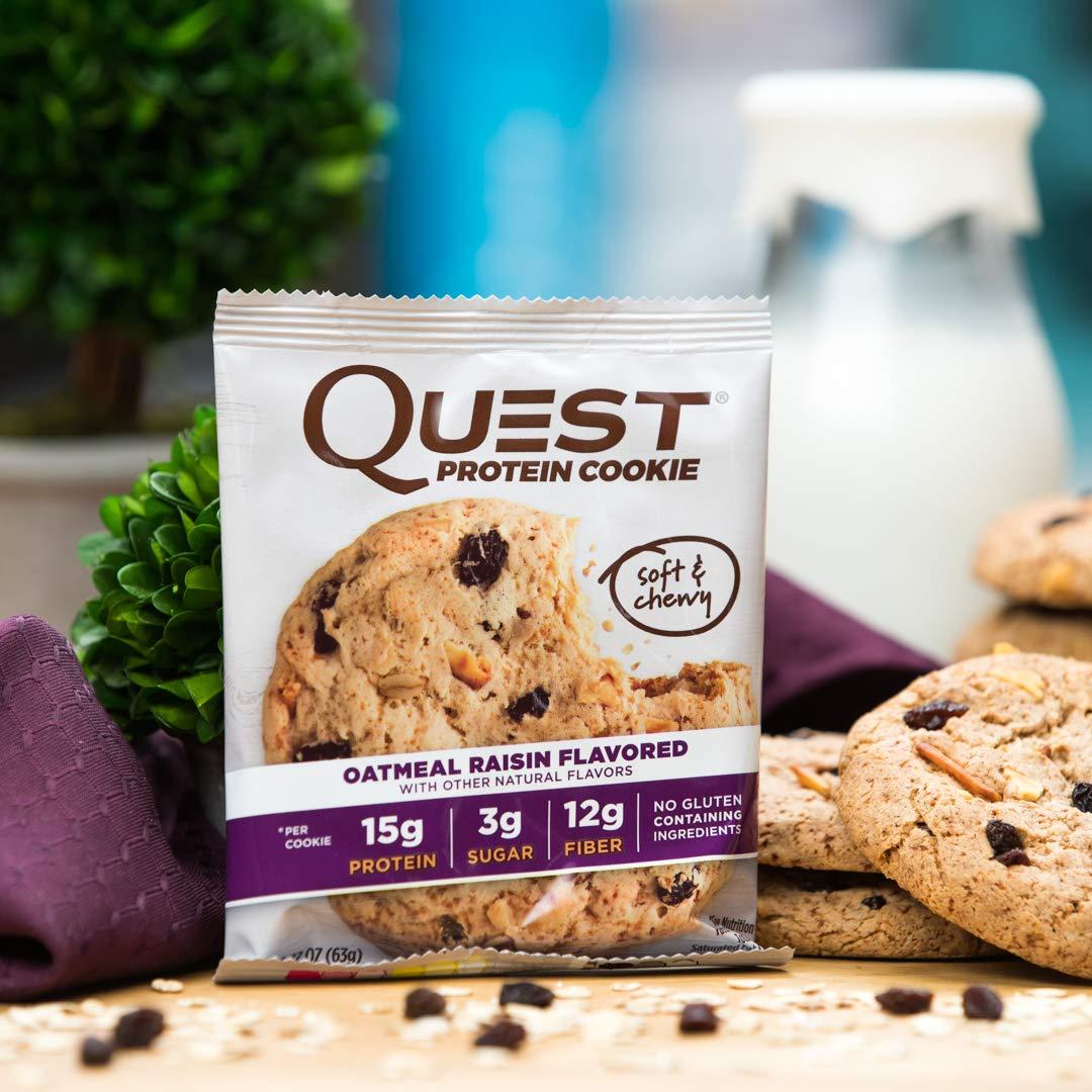 Quest Nutrition Protein Cookie Oatmeal Raisin - 12 Barras: Amazon.es: Salud y cuidado personal