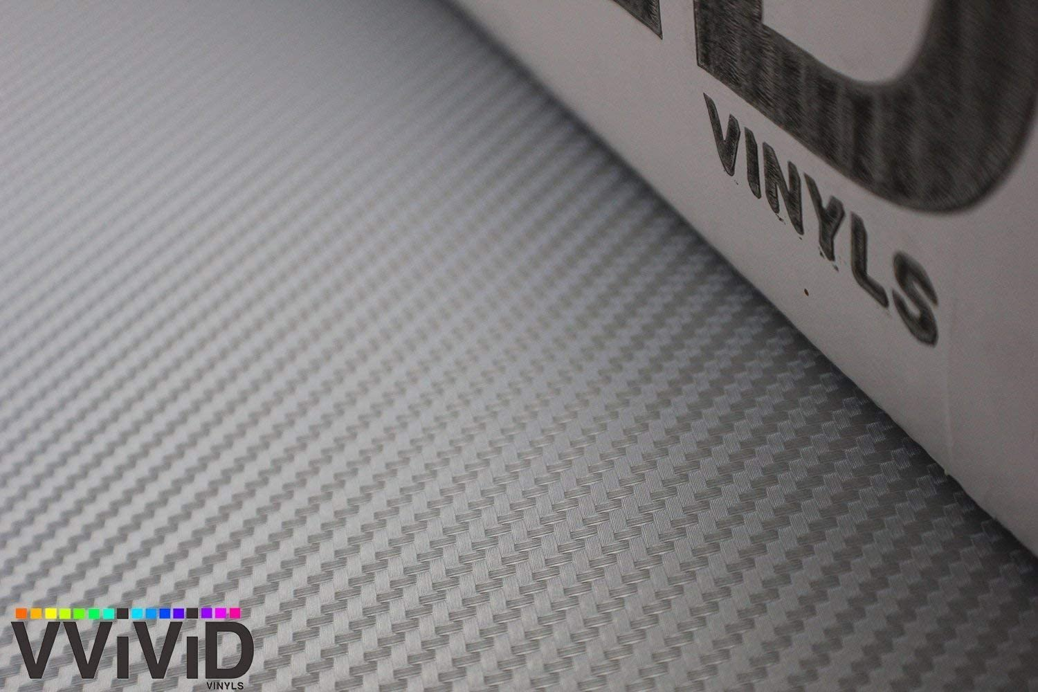 Silver 3D Carbon Fiber 5ft x 1.5ft Vinyl Wrap Roll with Air Release Technology