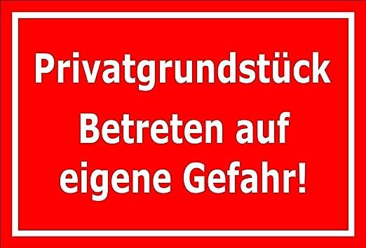 Cartel Privado Razón pieza Entrar en alemán - 15 x 20 cm, 30 ...