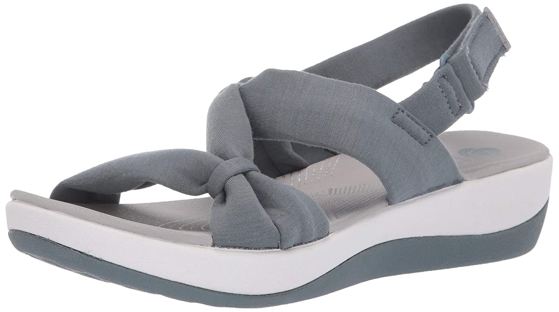 bluee Grey Textile Clarks Women's Arla Primpink Sandals