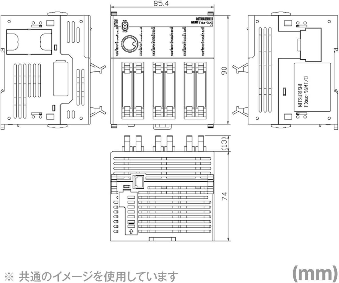 Mitsubishi Electric fx3uc-96mt / DSS fx3ucメインユニット(入力タイプ: 24 V DC (シンク/ソース)出力タイプ:トランジスタ(ソース)) NN