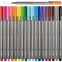 VITOLER Fineliner Colored Pens, Fine Point Marker Assorted Color Drawing Planner Pens, Pack of 18 Assorted Color for Bullet Journaling Writing Note Taking Calendar Coloring Art