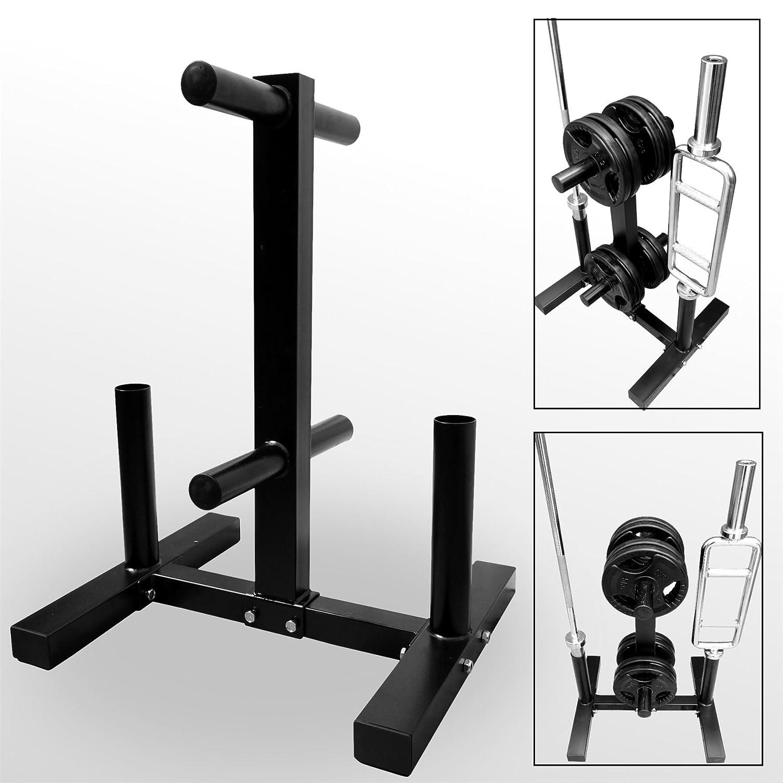 BodyRip nbsp;- Estante tipo árbol para barras y pesas de gimnasio, color negro, 80 x 60 x 50 cm.: Amazon.es: Deportes y aire libre