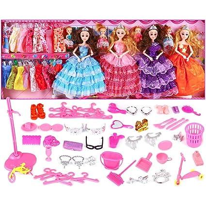 Amazon.es: Huangyingui Fashion Girl Doll Set Caja de Regalo Villa ...